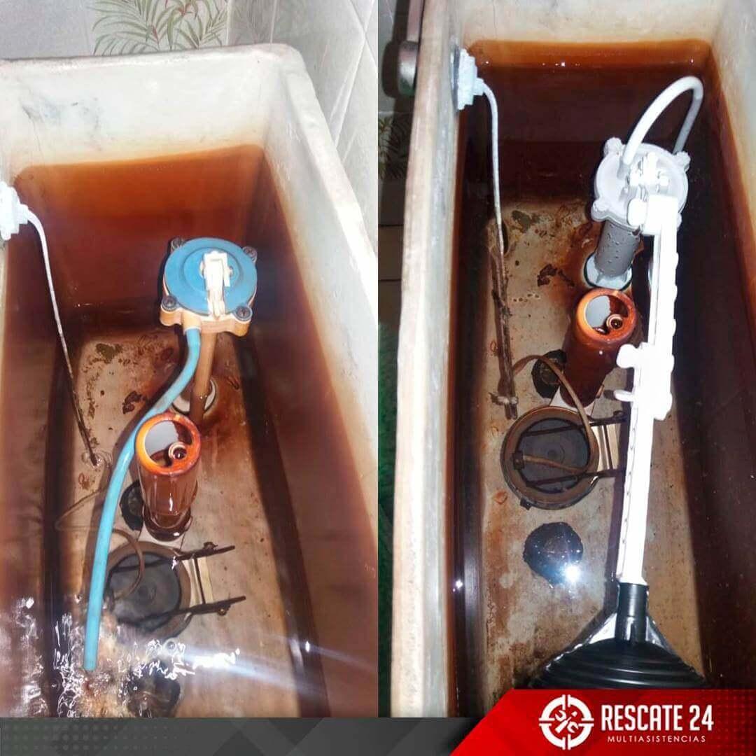 Cambio de accesorios de inodoro e instalación de lavatorio