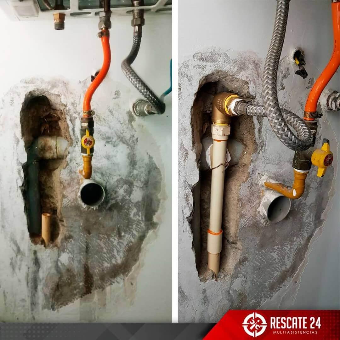 Cambio de tubería de agua caliente